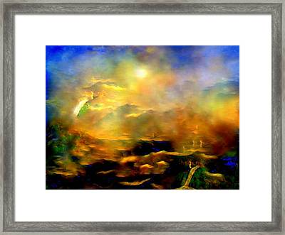 Framed Print featuring the painting To Hot To Handle by Sherri  Of Palm Springs