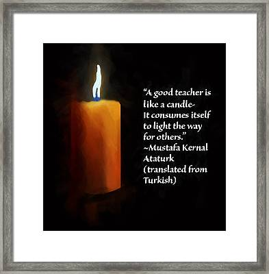 To Light The Way Framed Print by Larry Ferreira