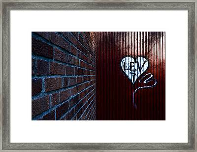 To Live Framed Print by Tommytechno Sweden