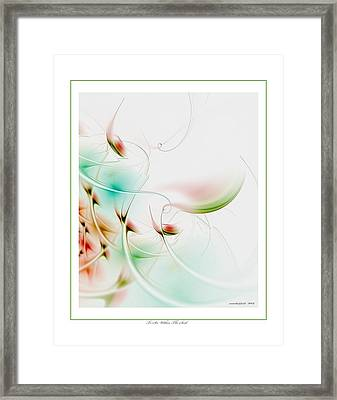 To Look Within The Seed Framed Print by Gayle Odsather
