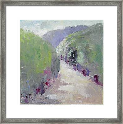 To Mountain Framed Print