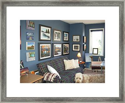 Framed Print featuring the painting To Our Arts Content 2 by Diane Daigle