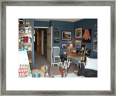 Framed Print featuring the painting To Our Arts Content 3 by Diane Daigle