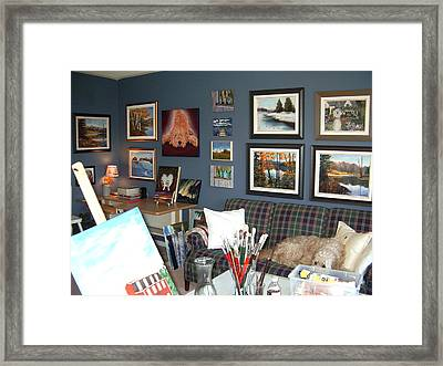 Framed Print featuring the painting To Our Arts Content by Diane Daigle