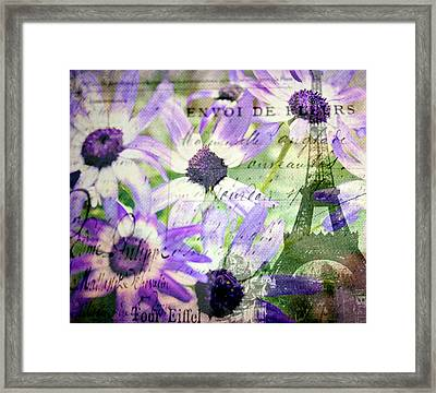 To Paris With Love Framed Print by Kathy Bucari