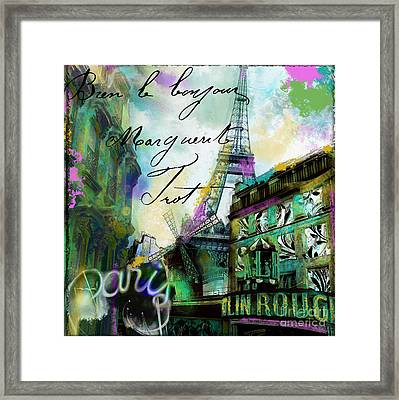 To Paris With Love Framed Print