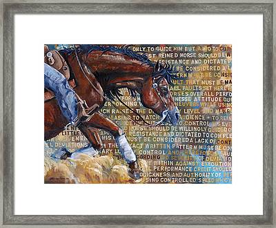 To Rein A Horse Framed Print