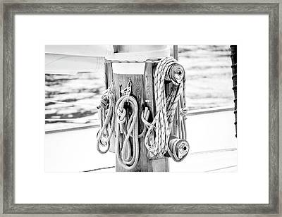Framed Print featuring the photograph To Sail Or Knot by Greg Fortier