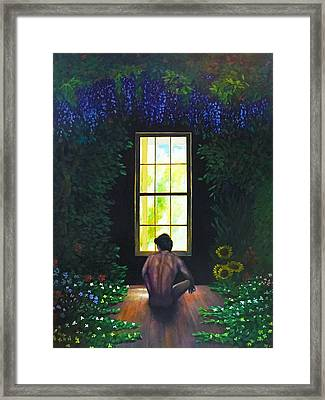 To Sanctuary For Rebirth And Renewal Framed Print by Charles Wallis