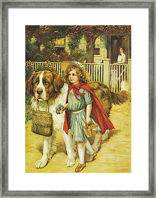 To School Well Fed With Grape Nuts Framed Print