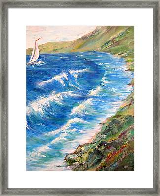 To Shore - Maui Framed Print by Cheryl Ehlers