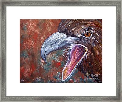 To Speak Of Eagles Framed Print