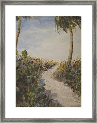 To The Beach Framed Print by Alan Lakin