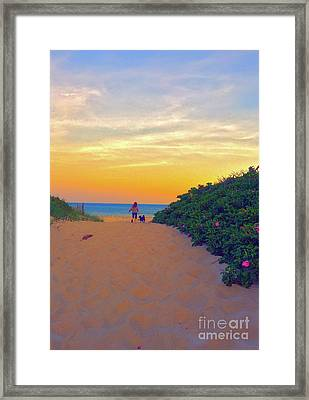 To The Beach Framed Print by Todd Breitling