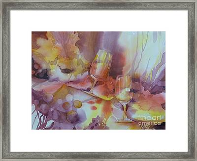 To The Bottom Of The Glass Framed Print by Donna Acheson-Juillet