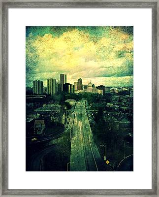 To The City Framed Print by Cathie Tyler
