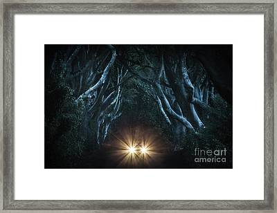 To The End Of The Night Framed Print by Evelina Kremsdorf