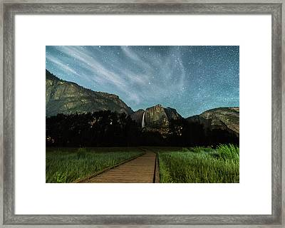 To The Falls Framed Print by Kristopher Schoenleber