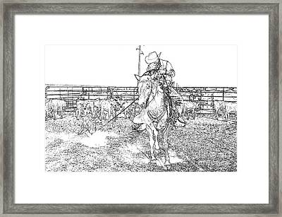 To The Fire Framed Print