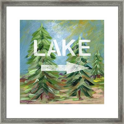 To The Lake - Art By Linda Woods Framed Print by Linda Woods