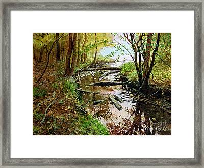 Framed Print featuring the painting To The Lake by Sergey Zhiboedov
