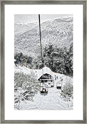 To The Land Of Frozen Dreams In The Argentine Patagonia Framed Print