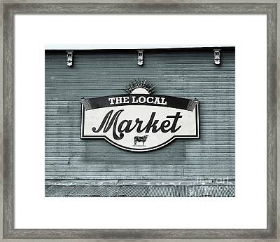To The Market -in Blue Framed Print