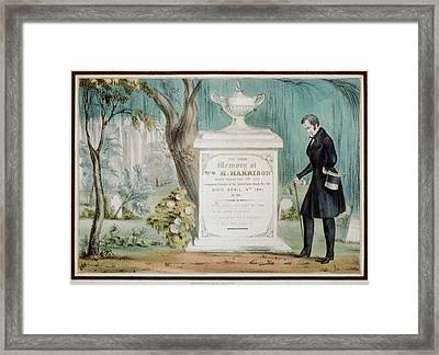 To The Memory Of William H. Harrison Framed Print by Everett