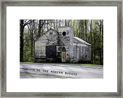 To The Modern Bypass Framed Print
