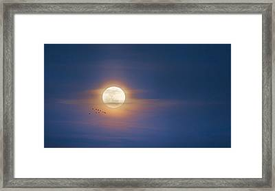 To The Moon Framed Print by Bill Wakeley