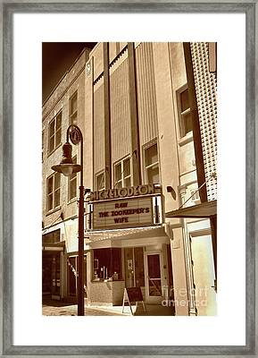 Framed Print featuring the photograph To The Movies by Skip Willits