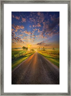 To The Place Where Dreams Are Born Framed Print by Phil Koch