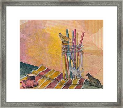 To The Rescue Framed Print by Sandy Clift