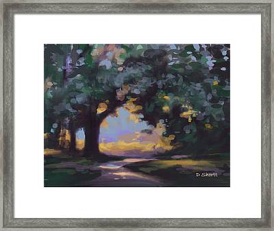 To The River Framed Print by Donna Shortt