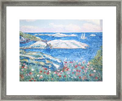To The Shoals Framed Print by Ursula Wright