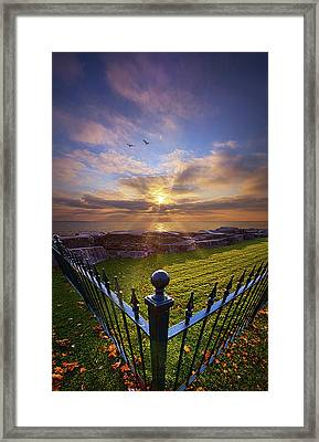 To The Shore And Horizon's Bounty Framed Print by Phil Koch
