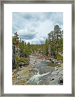 To The Top Of Yosemite Framed Print