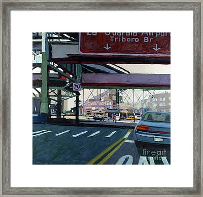 To The Triboro Framed Print