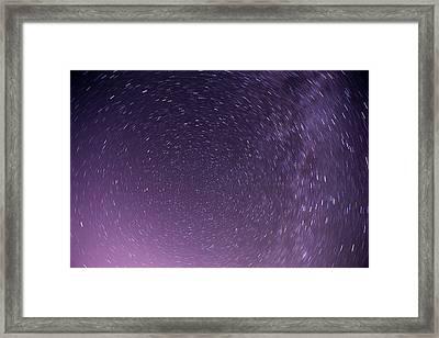 To The Universe Framed Print by Anton Popov