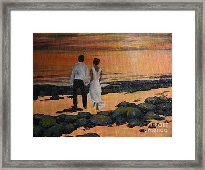 To Wed At Rocky Point Framed Print