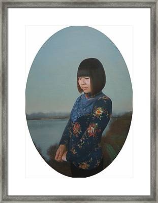 To Xiu Pan Framed Print by Weiyu Xia