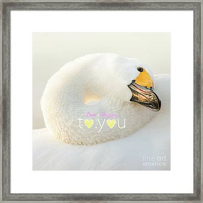 To You #001 Framed Print