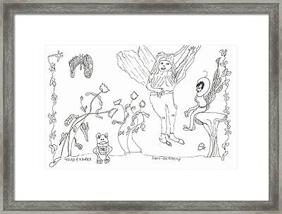 Toad And Fairies Framed Print