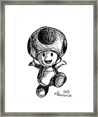Toad Framed Print by Kayleigh Semeniuk