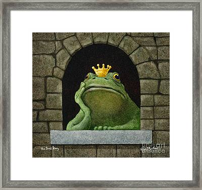 Toad King... Framed Print by Will Bullas
