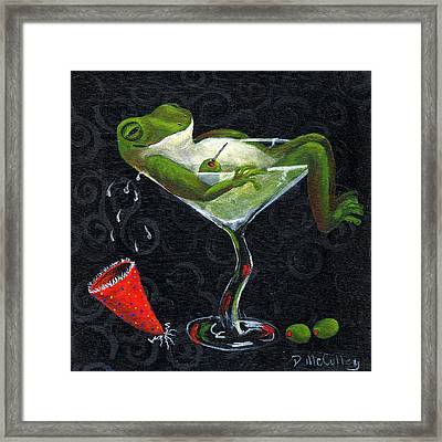 Toadally Under The Influence Framed Print by Debbie McCulley