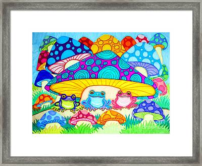 Toads And Toad Stools Framed Print by Nick Gustafson