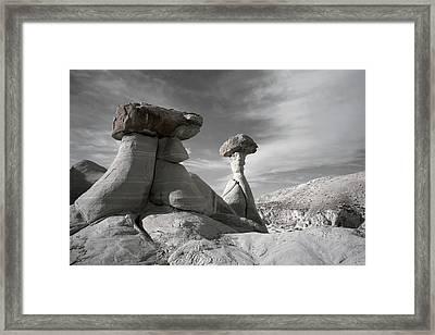 Toadstool Hoodoos Framed Print