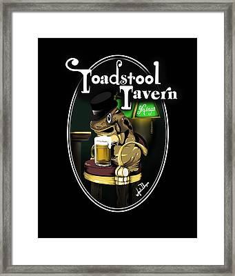 Toadstool Tavern  Framed Print
