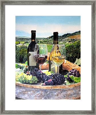 Toast Of The Valley Framed Print